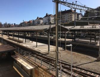 Gare la Chaux-de-fonds renouvellement des marquises de quai